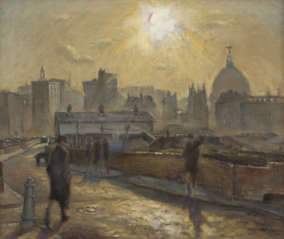 Cyril Mann, St Paul's from Moor Lane, 1948