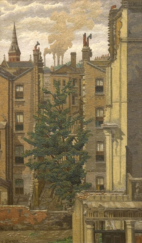 Charles Ginner, The Unscathed Tree, Pimlico, 1942