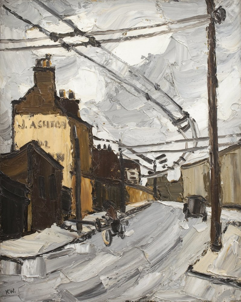 Sir Kyffin Williams, Shoreditch, c. 1950