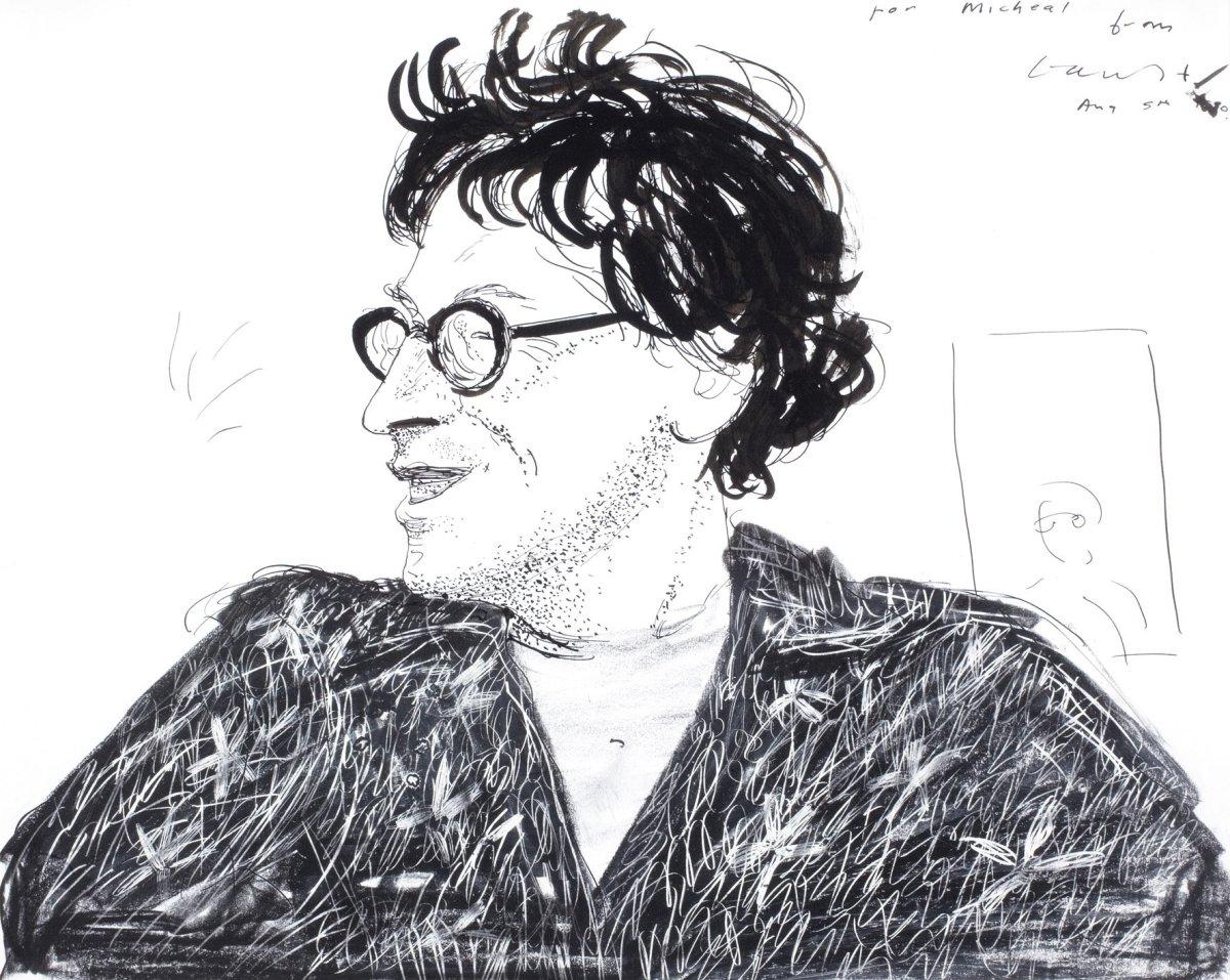 David Hockney, Portrait of Michael Horovitz, 1980