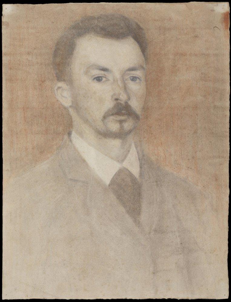Vilhelm Hammershoi, Self-Portrait, 1891 c.