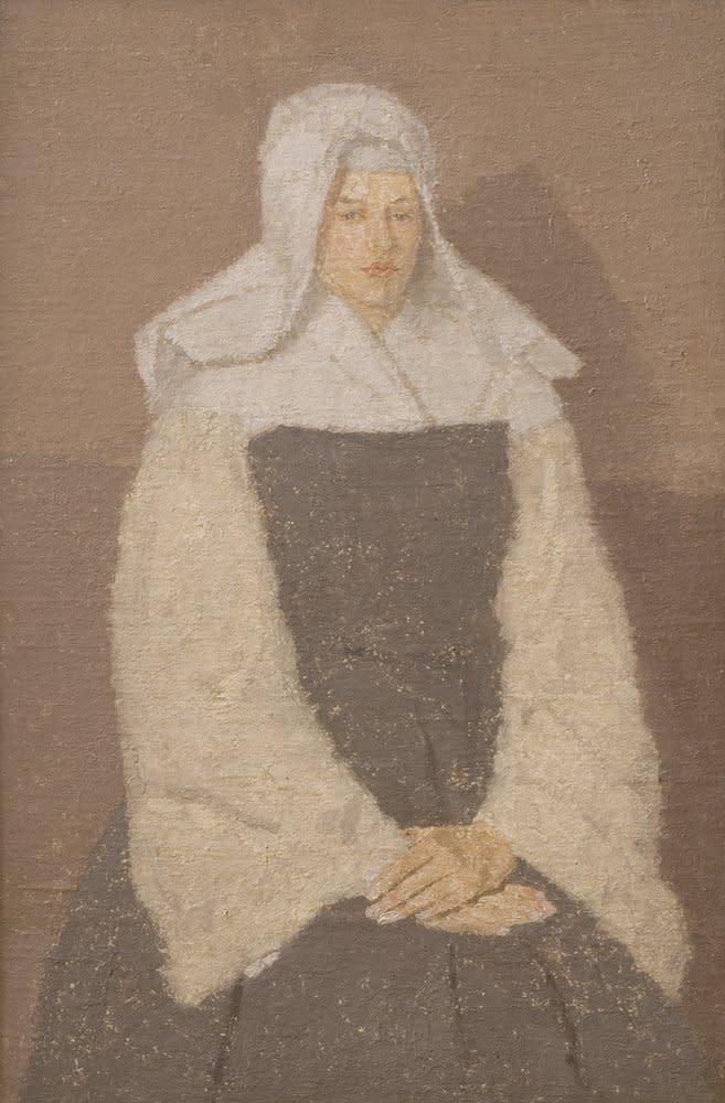 Gwen John, Portrait of a Young Nun, C.1911-19
