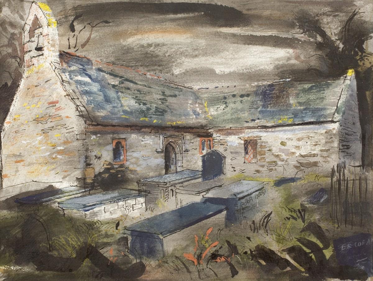 John Piper, Llantrisant Church, Anglesey, 1946