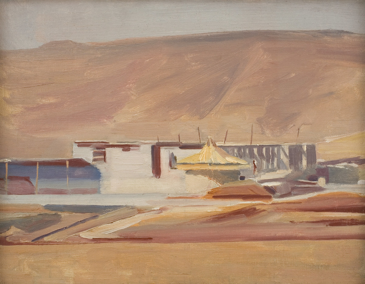 David Bomberg, Irrigation, Zionist Development, Palestine, 1923