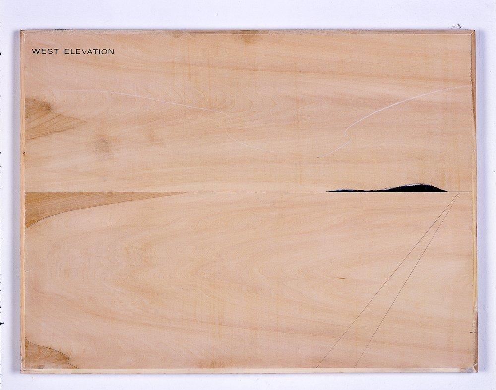 <span class=&#34;link fancybox-details-link&#34;><a href=&#34;/artists/12-peter-j.-evans/works/206/&#34;>View Detail Page</a></span><div class=&#34;artist&#34;><strong>Peter J. Evans</strong></div> <div class=&#34;title&#34;><em>West elevation</em>, 2006</div> <div class=&#34;dimensions&#34;>45 x 35 cms<br />17.73 x 13.79 inches</div>