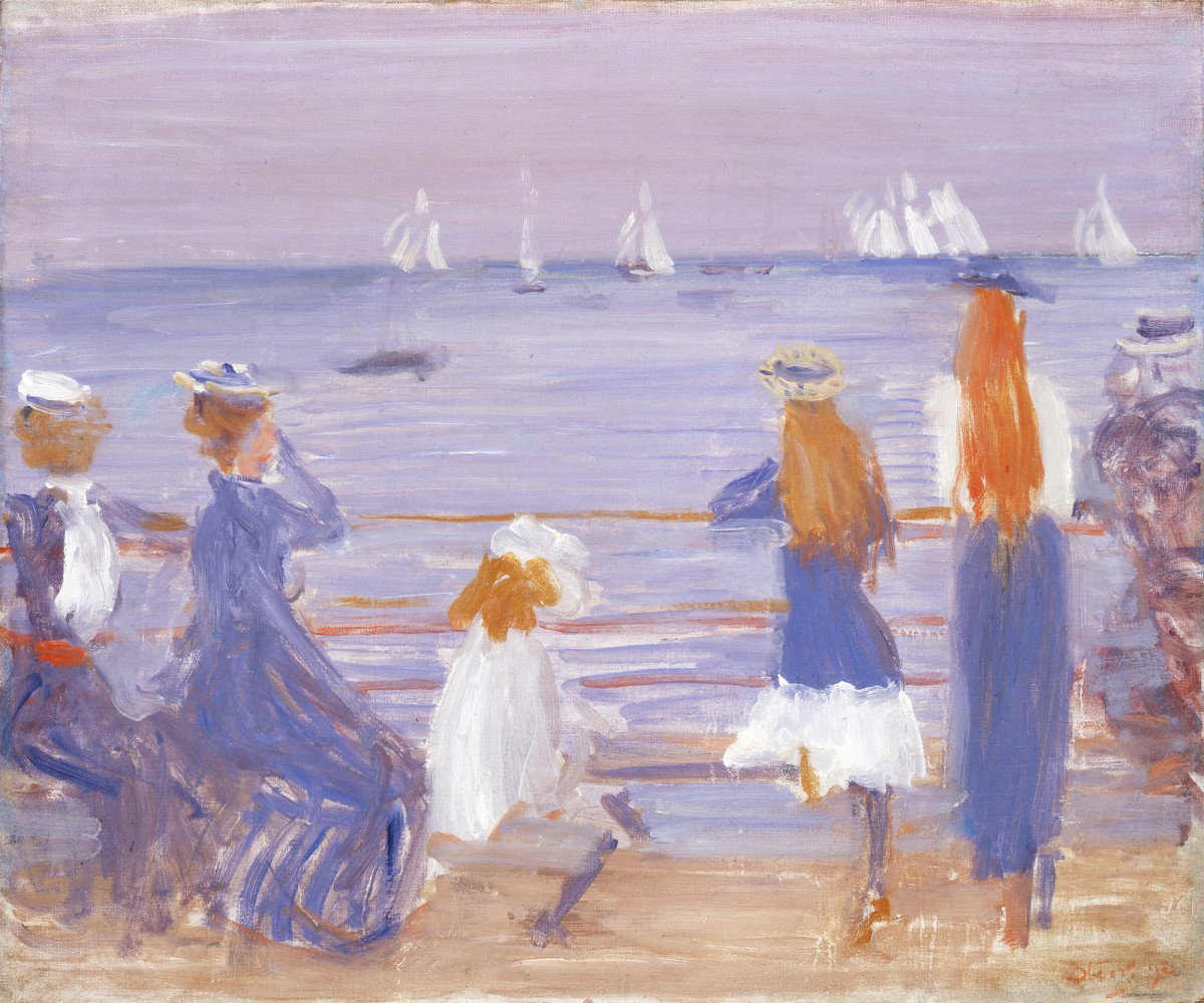 <p>Philip Wilson Steer (1860-1942), <em>Watching Cowes Regatta,</em> 1892</p>