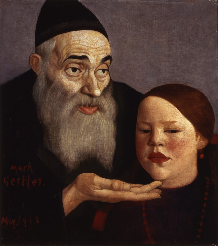 <p>Mark Gertler (1891-1939), The Rabbi and his Grandchild, 1913</p>