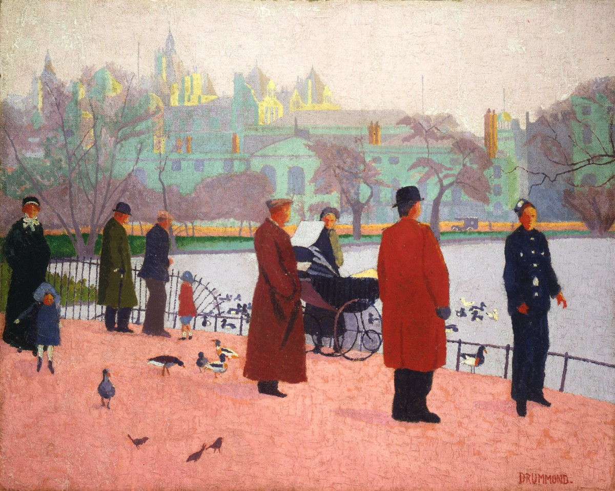 <p>Malcolm Drummond (1880-1945), <em>In the Park (St James's Park),</em> 1912</p>