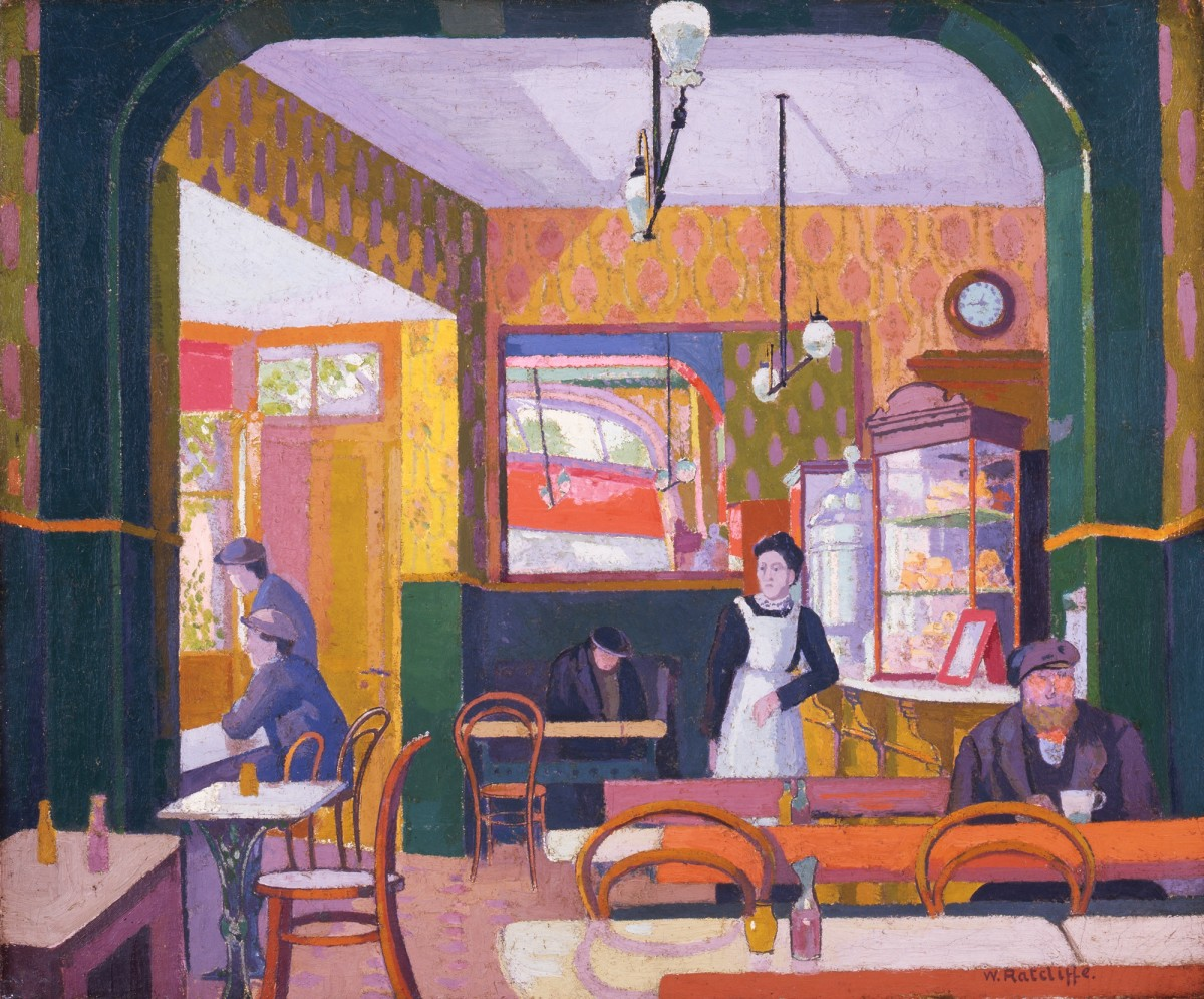 <p>William Ratcliffe (1870-1955), The Coffee House, 1914. Image©The Artist's Estate.</p>