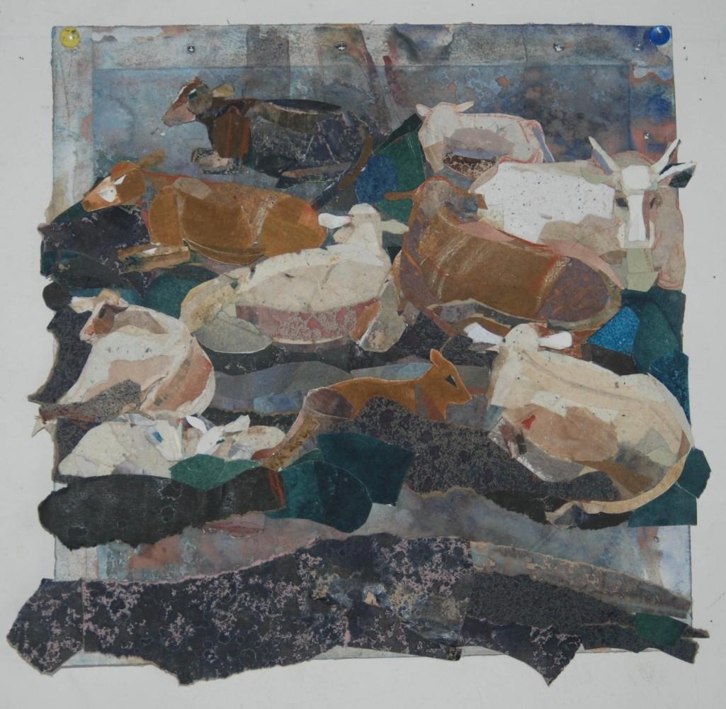 <span class=&#34;link fancybox-details-link&#34;><a href=&#34;/exhibitions/25/works/image_standalone528/&#34;>View Detail Page</a></span><p><span>Judith Dobie</span></p><p><em>Salt Marsh Cows</em></p><p>&nbsp;</p><p>Winner of the St Cuthbert's Mill Paper Prize</p>