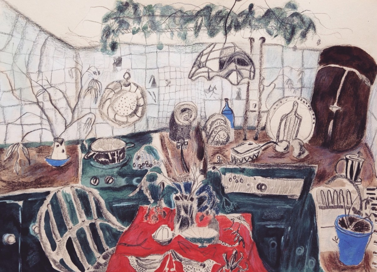 <span class=&#34;link fancybox-details-link&#34;><a href=&#34;/exhibitions/25/works/image_standalone571/&#34;>View Detail Page</a></span><p><span>Lily Irwin</span></p><p><em>The Kitchen at Little Mill</em></p><p>&nbsp;</p><p>Winner of the Cotswold Mounts Prize</p>