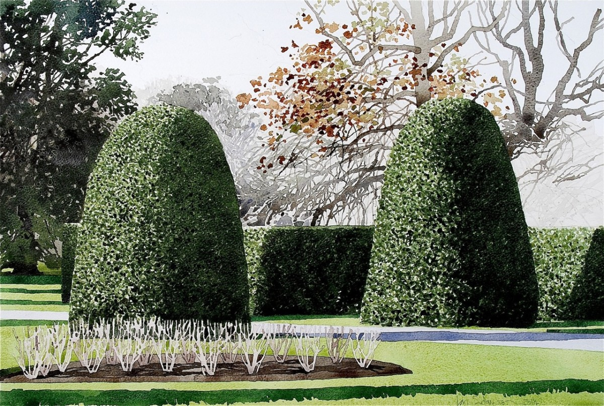 <span class=&#34;link fancybox-details-link&#34;><a href=&#34;/exhibitions/7/works/image_standalone173/&#34;>View Detail Page</a></span><p>Ian Siddaway,&#160;<em>Kew Gardens Topiary 2</em></p>