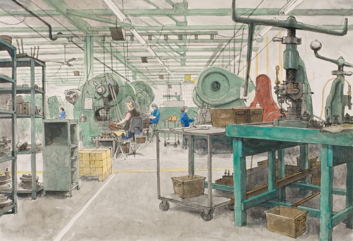 <span class=&#34;link fancybox-details-link&#34;><a href=&#34;/artists/79-arthur-lockwood/works/9558-arthur-lockwood-birmingham-factory.-making-washers/&#34;>View Detail Page</a></span><div class=&#34;artist&#34;><span class=&#34;artist&#34;><strong>Arthur Lockwood</strong></span></div><div class=&#34;title&#34;><em>Birmingham Factory. Making Washers</em></div><div class=&#34;medium&#34;>watercolour</div>