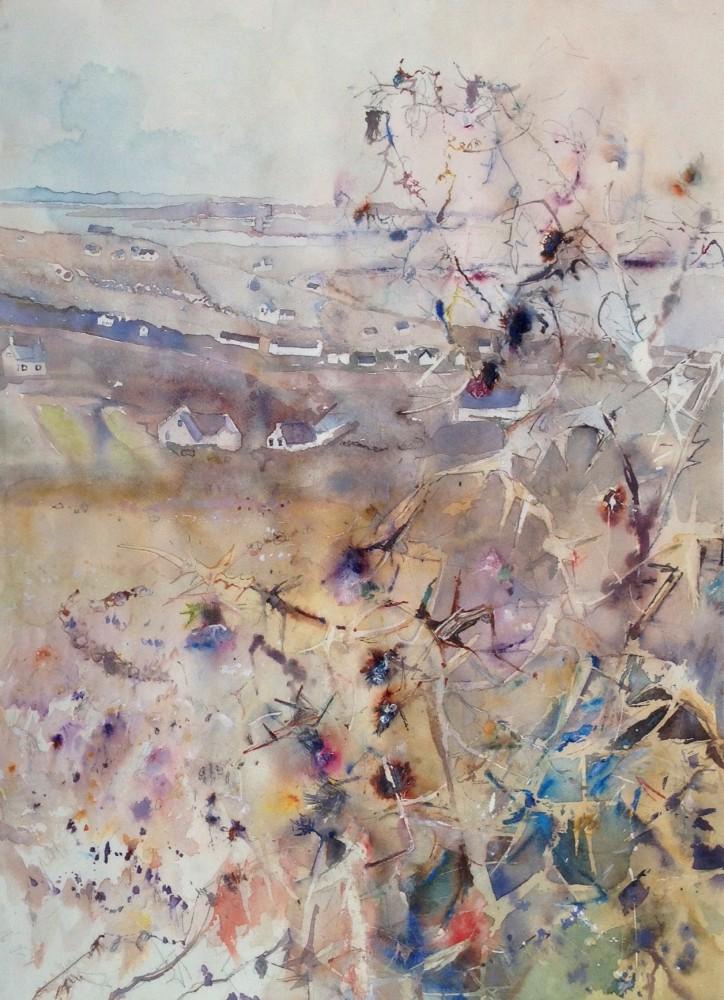 <span class=&#34;link fancybox-details-link&#34;><a href=&#34;/exhibitions/12/works/artworks_standalone9779/&#34;>View Detail Page</a></span><div class=&#34;artist&#34;><span class=&#34;artist&#34;><strong>Sophie Knight</strong></span></div><div class=&#34;title&#34;><em>Roaming Thistles, Donnegal</em></div><div class=&#34;medium&#34;>watercolour & pencil</div>