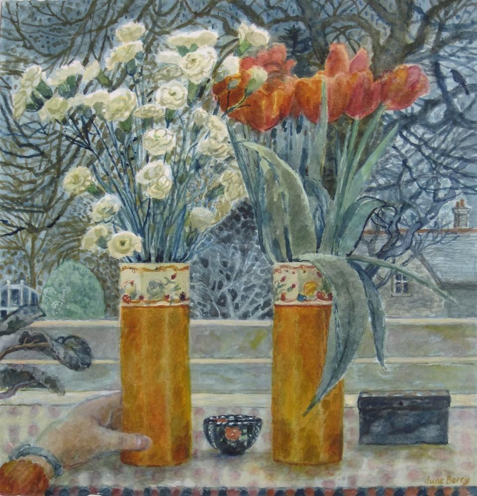 <span class=&#34;link fancybox-details-link&#34;><a href=&#34;/exhibitions/12/works/artworks_standalone9786/&#34;>View Detail Page</a></span><div class=&#34;artist&#34;><span class=&#34;artist&#34;><strong>June Berry</strong></span></div><div class=&#34;title&#34;><em>Two Vases</em></div><div class=&#34;medium&#34;>watercolour</div>