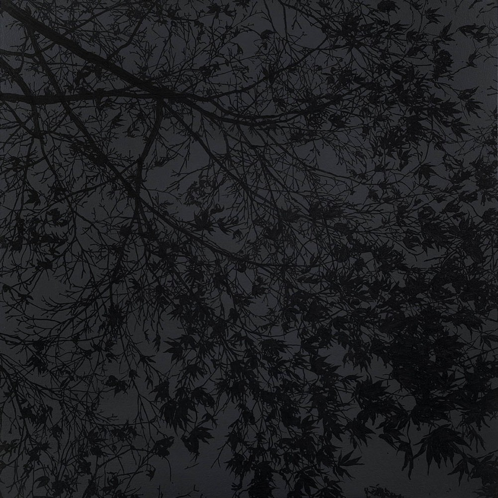 """<div class=""""title""""><em>50 Words For Snow</em>, 2013</div><div class=""""medium"""">acrylic on canvas</div><div class=""""dimensions"""">100 x 100 cms</div>"""