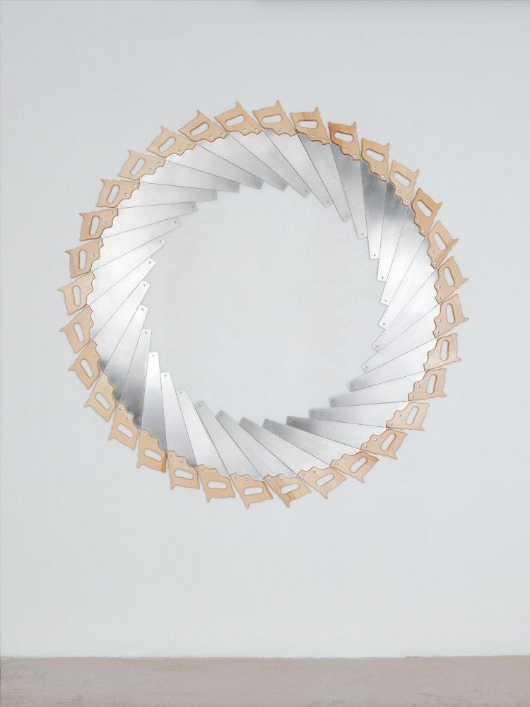 <span class=&#34;link fancybox-details-link&#34;><a href=&#34;/exhibitions/48/works/artworks8089/&#34;>View Detail Page</a></span><div class=&#34;artist&#34;><strong>Jacob Dahlgren</strong></div><div class=&#34;title&#34;><em>Untitled Endless Cut</em>, 2012</div><div class=&#34;medium&#34;>Saws</div><div class=&#34;dimensions&#34;>165 cm Diameter</div>