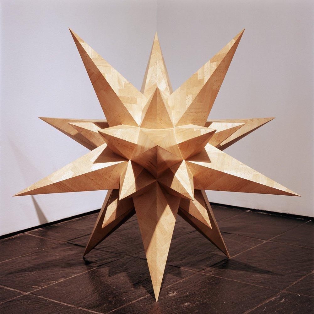 <span class=&#34;link fancybox-details-link&#34;><a href=&#34;/exhibitions/15/works/artworks199/&#34;>View Detail Page</a></span><div class=&#34;artist&#34;><strong>Peter J. Evans</strong></div><div class=&#34;title&#34;><em>Supernova Moment</em>, 2006</div><div class=&#34;medium&#34;>Beech Parquet</div><div class=&#34;dimensions&#34;>100 x 100 x 100 cm<br>39 3/8 x 39 3/8 x 39 3/8 in</div>