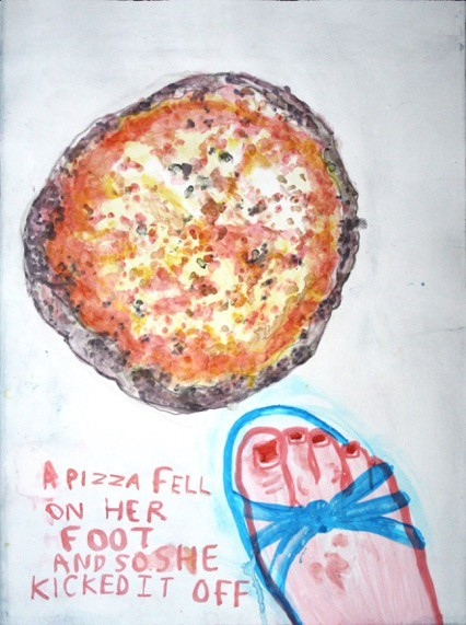 <span class=&#34;link fancybox-details-link&#34;><a href=&#34;/exhibitions/7/works/image_standalone213/&#34;>View Detail Page</a></span><p>Janet Milner,&#160;<em>A Pizza Fell on Her Foot</em></p>