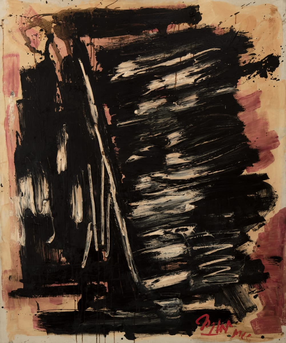Michael (Corinne) West, Franconia Notch, 1965, Oil and collage on canvas, 49 1/4 x 36 inches