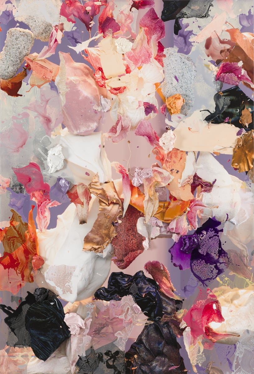 André Hemer, These days (June 12, 20:12 CEST), 2020, Acrylic and pigment on canvas, 81 x 55 inches (205.7 x 139.7 cm)