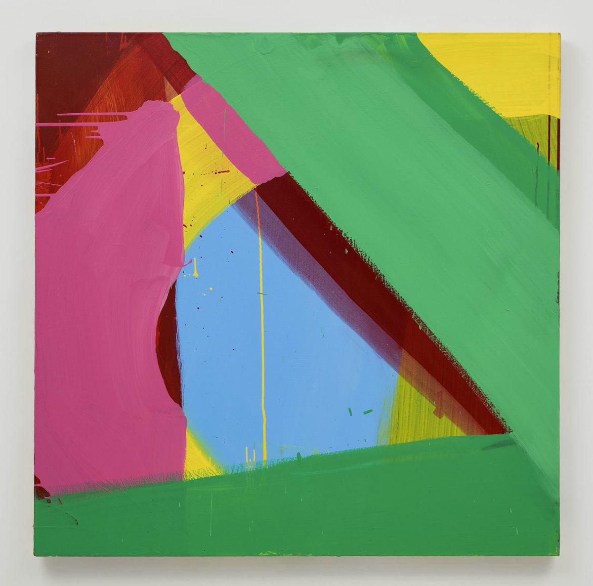Cat Balco, Blue Triangle, 2019, Acrylic on canvas ,48 x 48 inches (121.9 x 121.9 cm)