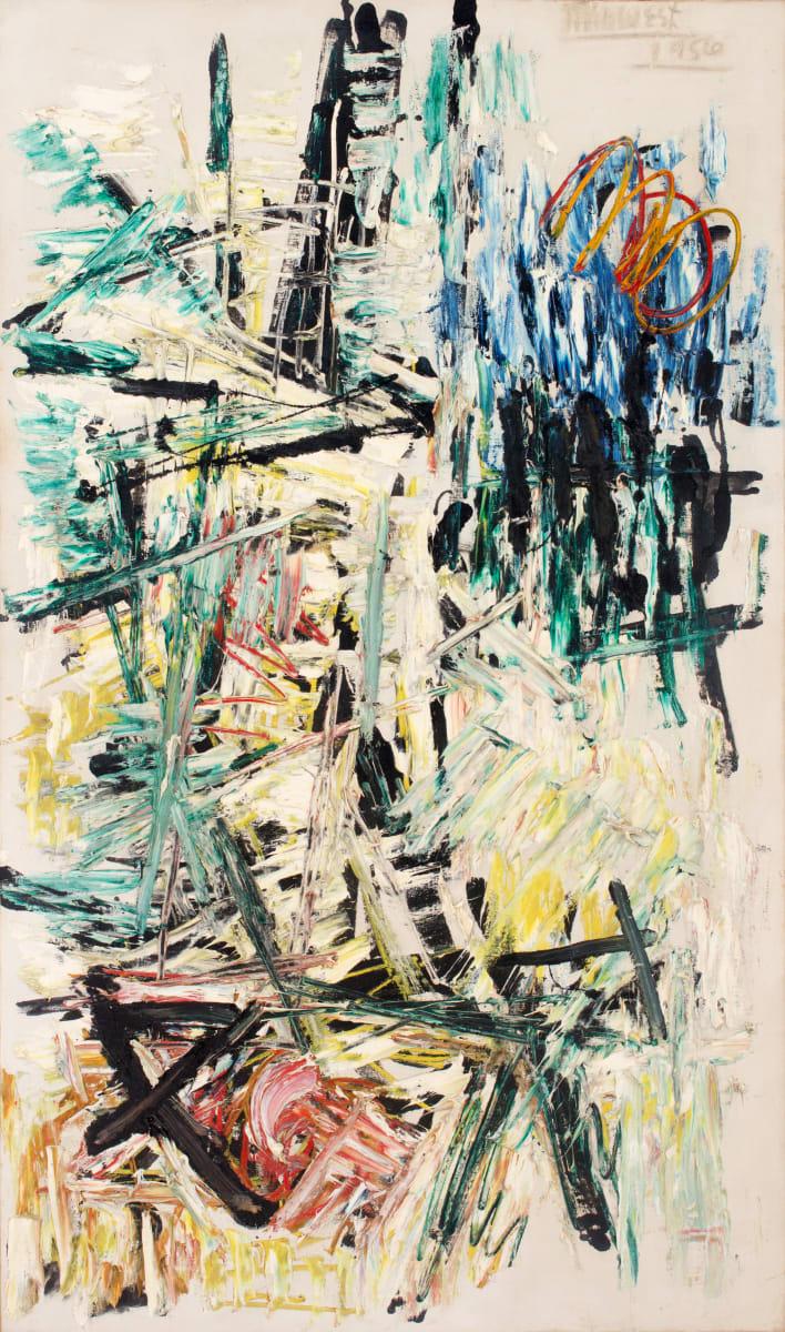 Michael (Corinne) West, La Voir – After Juan Gris, 1956, Oil on canvas, 65 7/8 x 38 1/2 inches