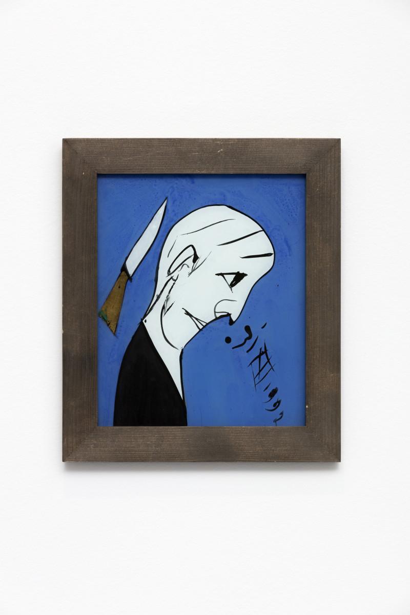 Florin Mitroi 31.XII.1992, 1992 Tempera on glass 27,8 x 23,8 cm (unframed) 34,5 x 30 x 1,7 cm (framed)