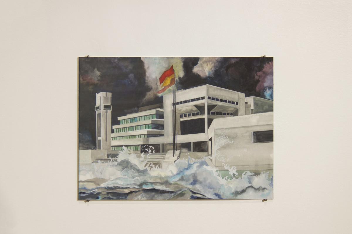 Isa Melsheimer Nr 439, 2017 Gouache on paper 42 x 56 cm (unframed) 52,1 x 63,6 cm (framed)