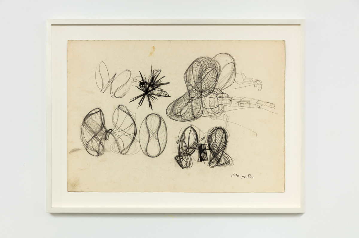 Stefan Bertalan Untitled, 1972 Pencil on paper 35 x 50 cm (13 3/4 x 19 3/4 in) (unframed) 44,5 x 59,5 x 3,5 cm (17 3/8 x 23 1/4 x 1 1/8 in) (framed)