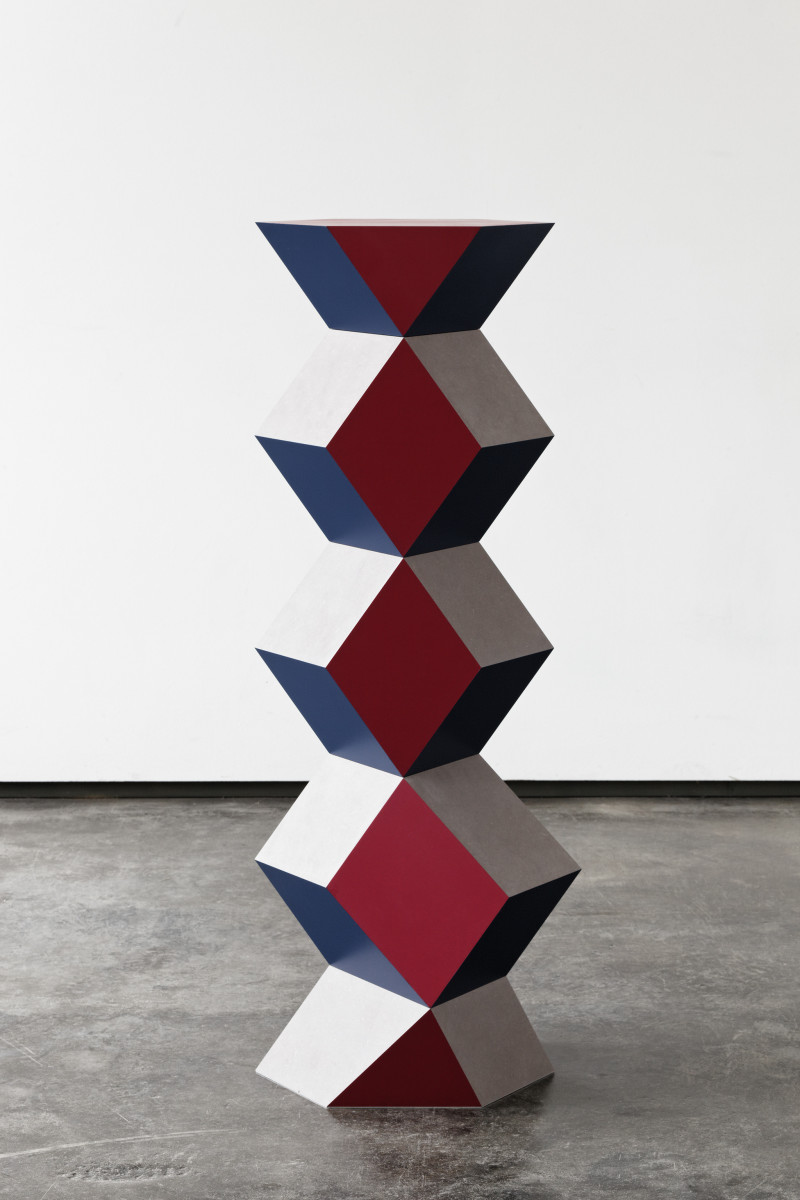Angela Bulloch Bent Column: Medium, 2016 MDF, paint 120 x 47 x 30 cm