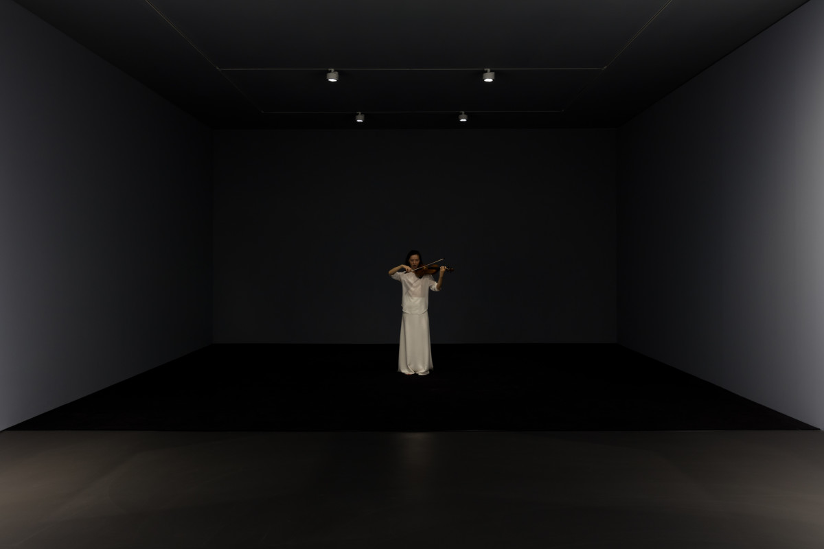 Ari Benjamin Meyers Solo for Ayumi, 2017 Performance, 12 original scores for solo violin, performance protocol and the right to stage the performance in consultation with the artist and gallery Duration and dimensions variable Edition of 1