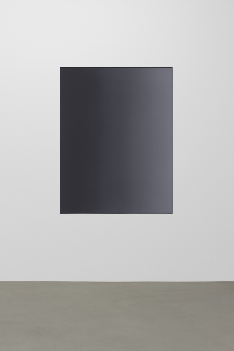 Matti Braun Untitled, 2019 Silk, dye, powder-coated aluminium 130 x 100 cm (51 1/8 x 39 3/8 in)