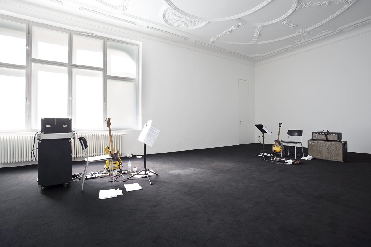 Ari Benjamin Meyers Serious Immobilities, 2013 Performance protocol, music score for electric guitar, electric bass and voice Duration variable