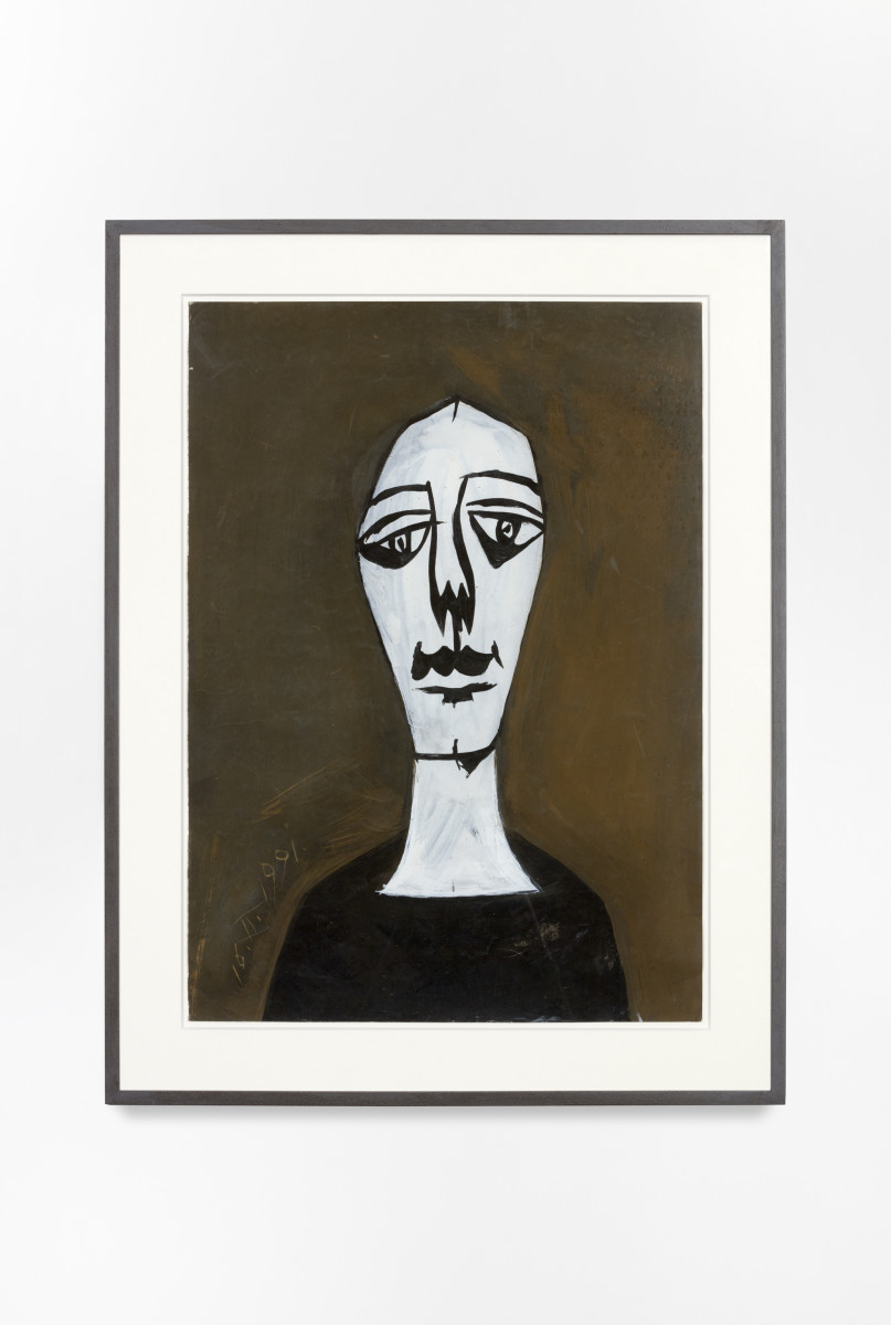 Florin Mitroi 16.II.1991, 1991 Tempera on paper 64,8 x 45,7 cm (25 1/4 x 17 3/4 in) (unframed) 79,5 x 60,5 x 4 cm (31 1/8 x 23 5/8 x 1 5/8 in (framed)