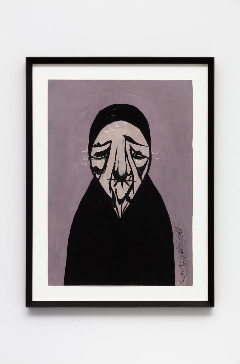 Florin Mitroi 22.V.1992, 1992 Tempera on paper 64 x 45 cm (25 1/4 x 17 3/4 in) (unframed) 78 x 59 x 5,5 cm (30 3/4 x 23 1/4 x 2 in) (framed)