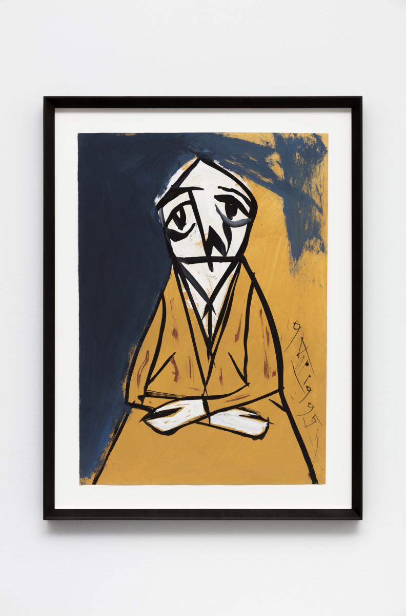 Florin Mitroi 9.VIII.1995, 1995 Tempera on paper 65,2 x 46,5 cm (25 5/8 x 18 1/8 in) (unframed) 79,5 x 60,5 x 4 cm (31 1/8 x 23 5/8 x 1 5/8 in) (framed)