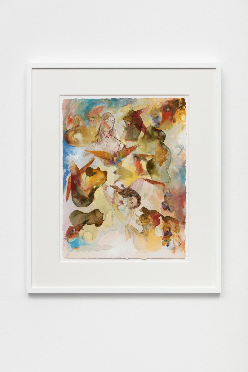 Shahzia Sikander Empire Follows Art: States of Agitation 10, 2020 Mixed media on paper 40,6 x 30,5 cm (16 x 12 in) (unframed) 55 x 46,5 x 4,2 cm (21 5/8 x 18 1/4 x 1 5/8 in) (framed) Signed verso