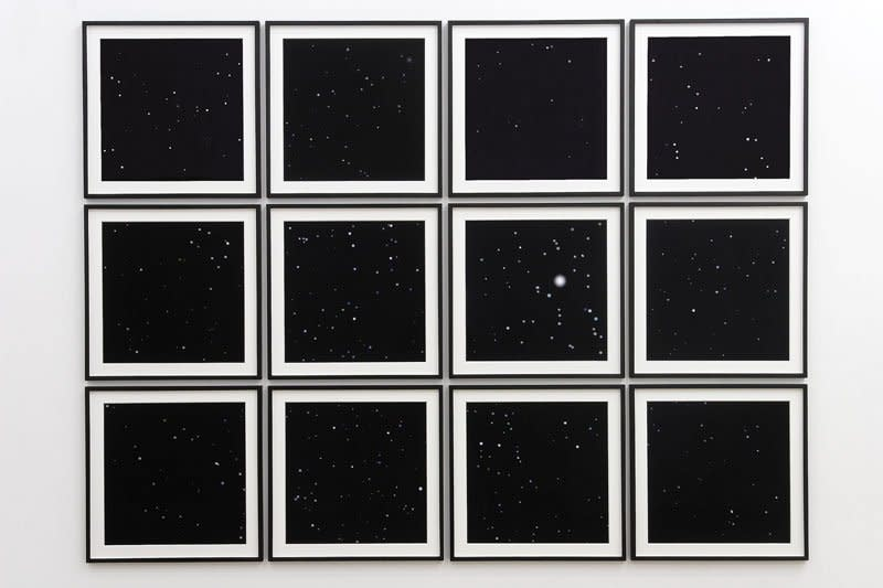 Angela Bulloch Night Sky Prints E.T. From Mercury.12, 2007 Pigment prints on Hahnemühle Photo Rag, 12 parts 61 x 61 x 3 cm each (framed) Edition of 3