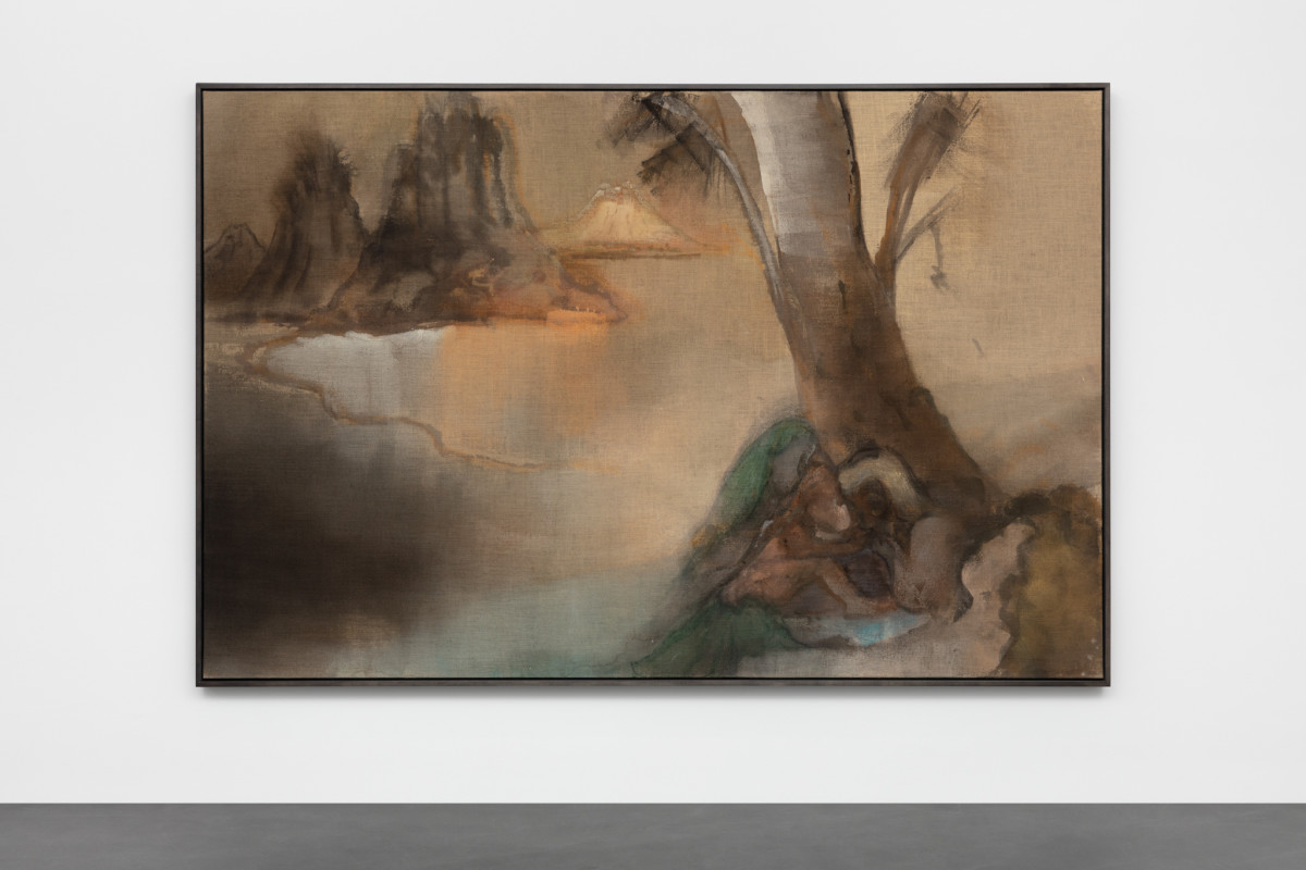 Leiko Ikemura Genesis, 2015 Tempera on jute 190 x 290 cm (74 3/4 x 114 1/8 in)
