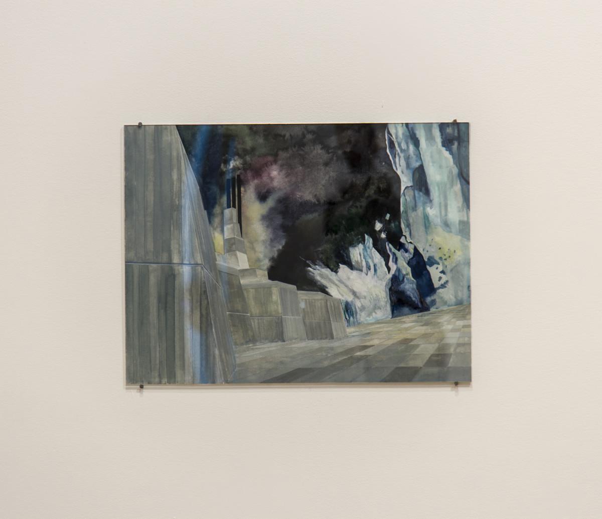Isa Melsheimer Nr 440, 2017 Gouache on paper 42 x 56 cm (unframed) 52,1 x 63,6 cm (framed)