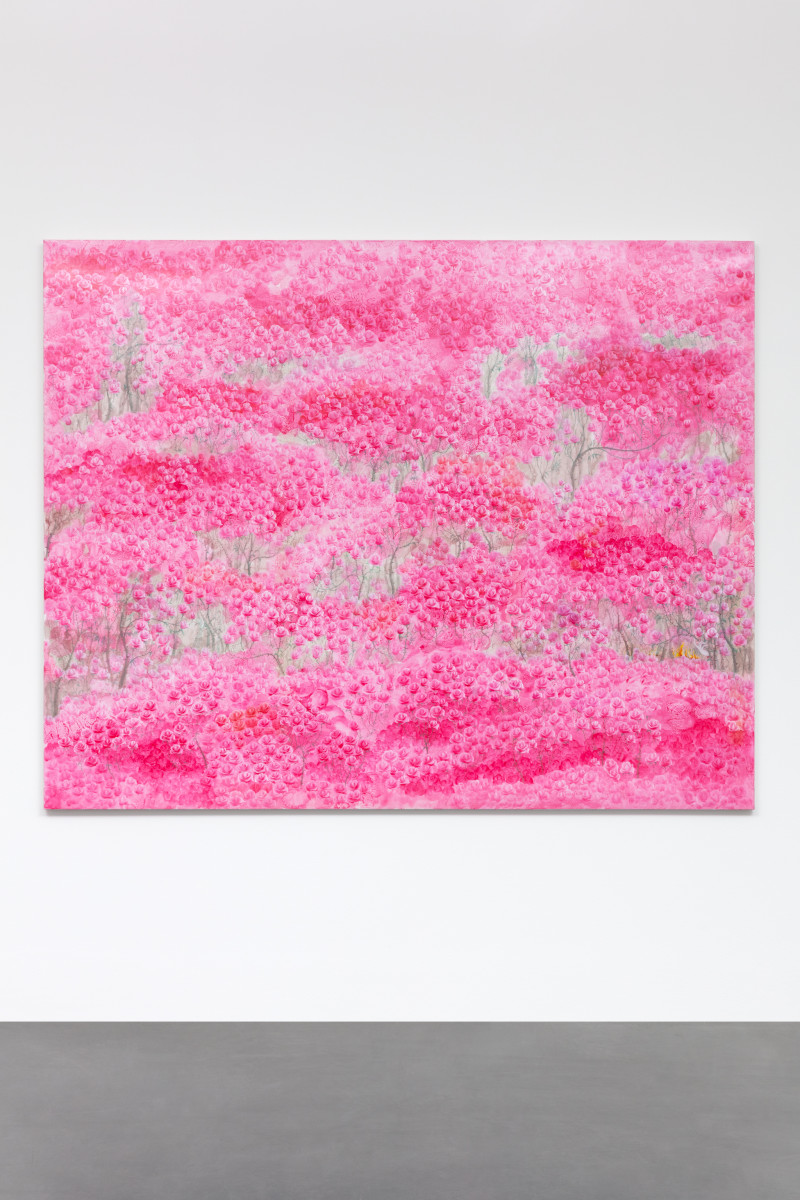 Yeesookyung Past Life Regression Painting - Just Started, 2014 Acrylic on canvas 181,8 x 227,3 x 3,5 cm (71 5/8 x 89 1/2 x 1 3/8 in) Signed, dated and titled