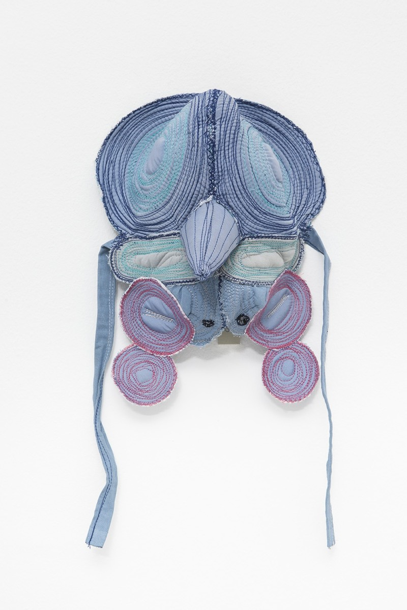 Isa Melsheimer Insecta IX, 2014 Cloth, cushion batting, thread 30 x 25 x 17 cm