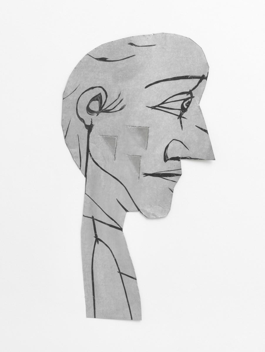 Florin Mitroi Untitled, 1997 Zinc plate 100 x 50 cm