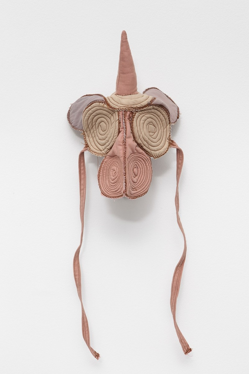 Isa Melsheimer Insecta VIII, 2014 Cloth, cushion batting, thread 28 x 23 x 16 cm