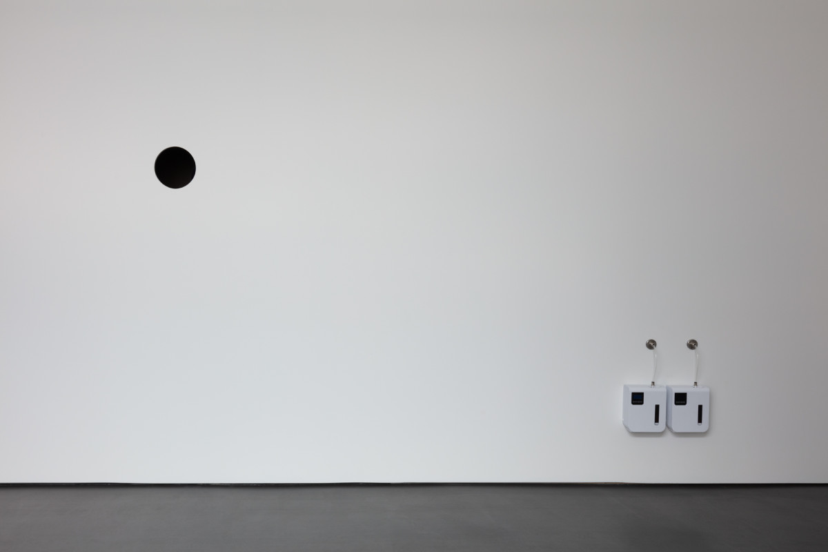 Etienne Chambaud Multiplex, 2021 Installation (aroma compounds including 2-acetyl 1-pyrrolin diffused inside a wall) Dimensions variable Edition of 3