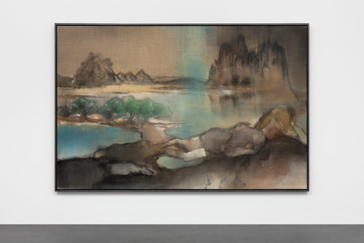 Leiko Ikemura Tokaido, 2015 Tempera on jute 190 x 290 cm (74 3/4 x 114 1/8 in)