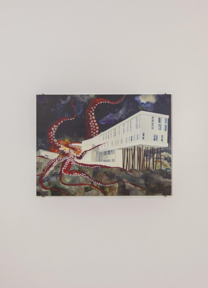 Isa Melsheimer Nr 437, 2017 Gouache on paper 42 x 56 cm (unframed) 52,1 x 63,6 cm (framed)