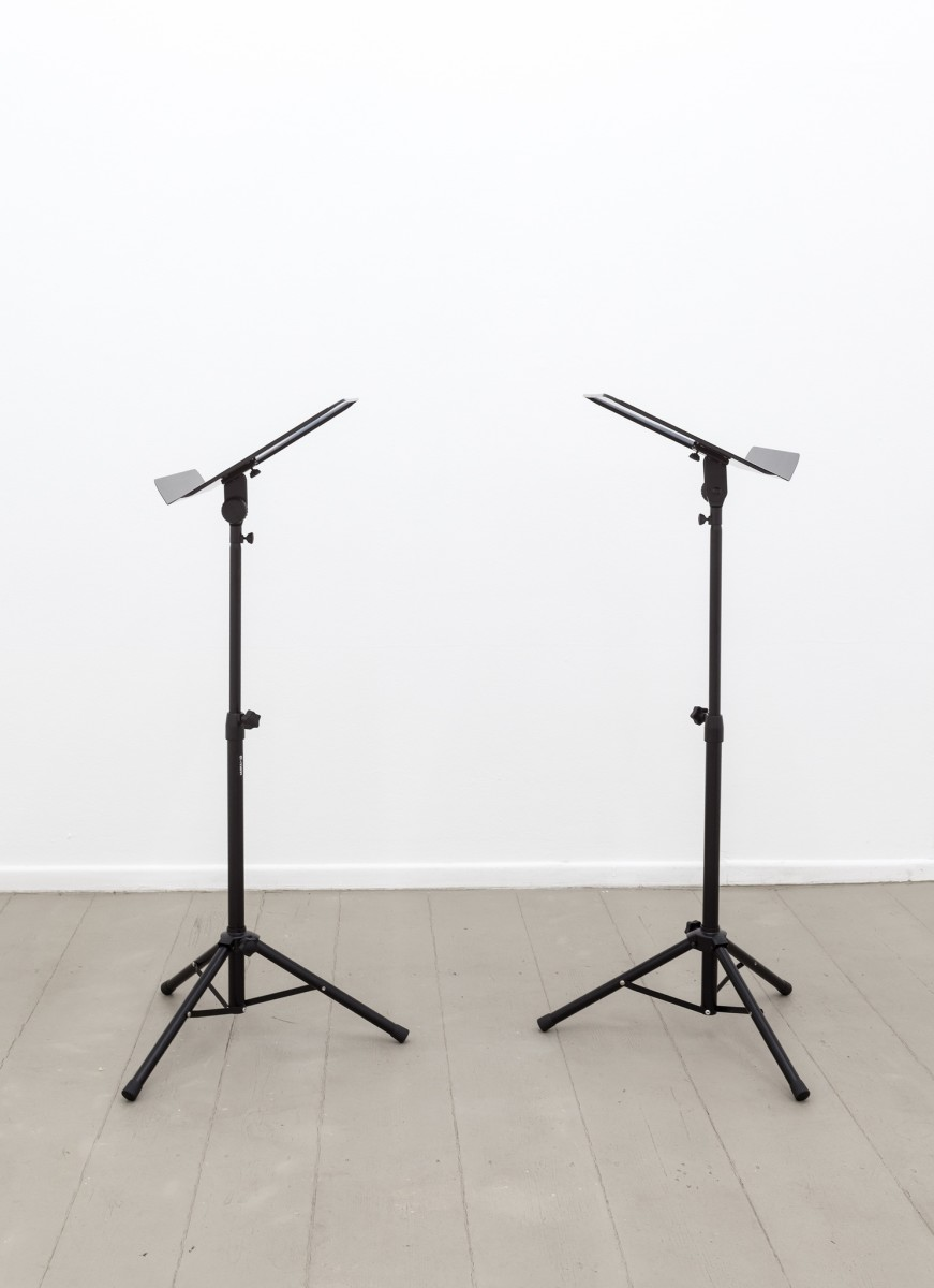 Ari Benjamin Meyers DUET, 2014 2 scores on paper, 2 music stands, pdf file, instructions 31,5 x 24 cm each (score) Edition of 5