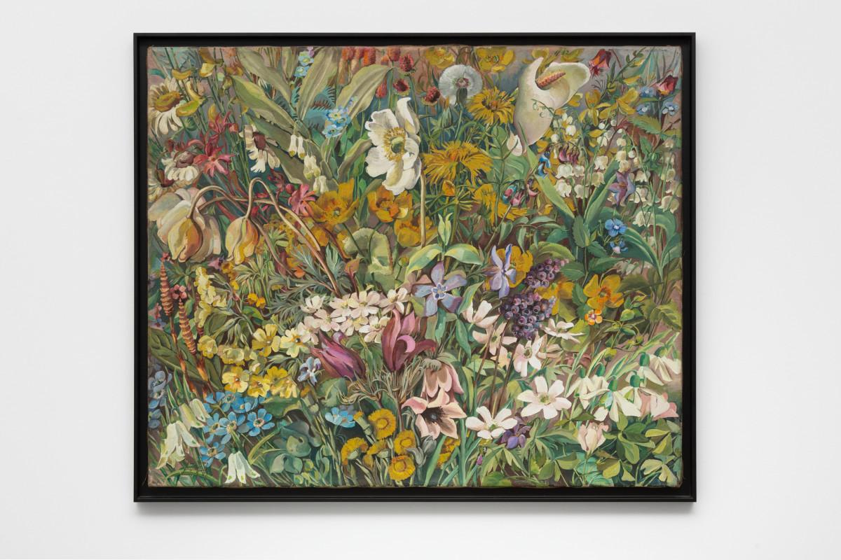 Hannah Höch Aus dem blühenden Tal, 1937 Oil on canvas 75,5 x 70,5 cm (29 3/4 x 27 3/4 in) Signed recto